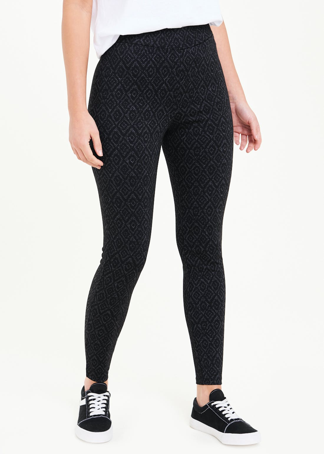 Geo Print Ponte Leggings