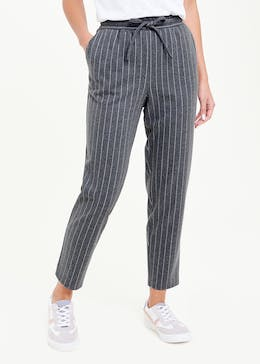 Pinstripe Tapered Joggers