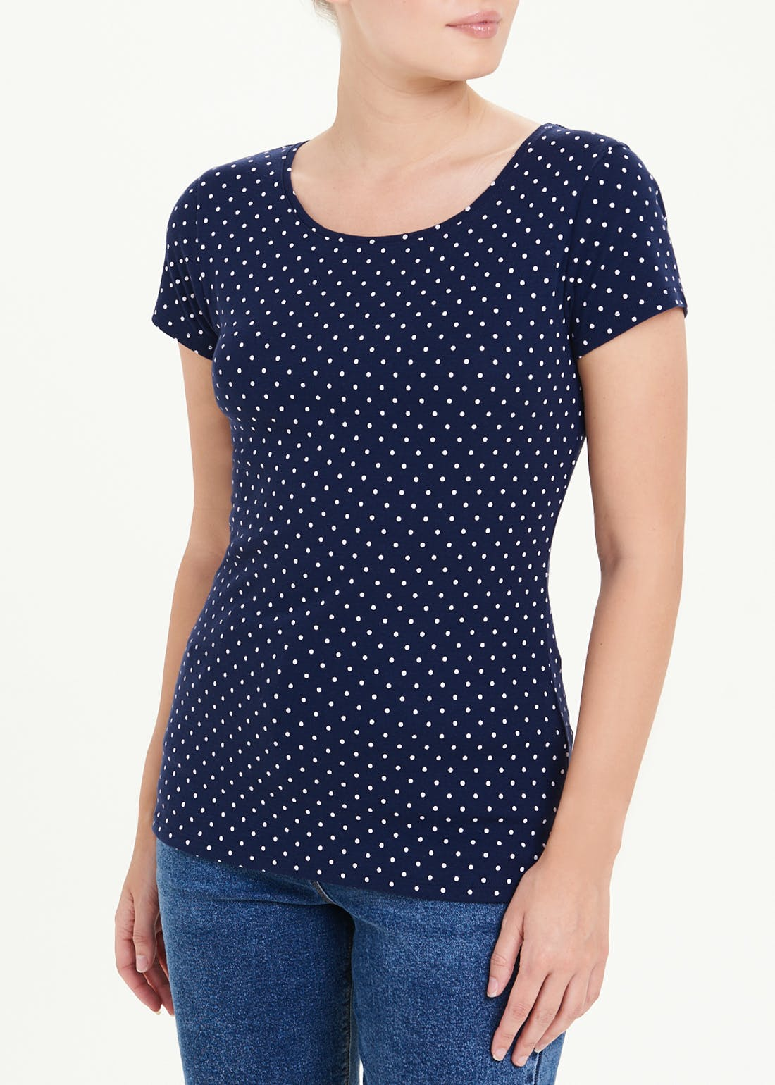 Perfect Short Sleeve Polka Dot T-Shirt