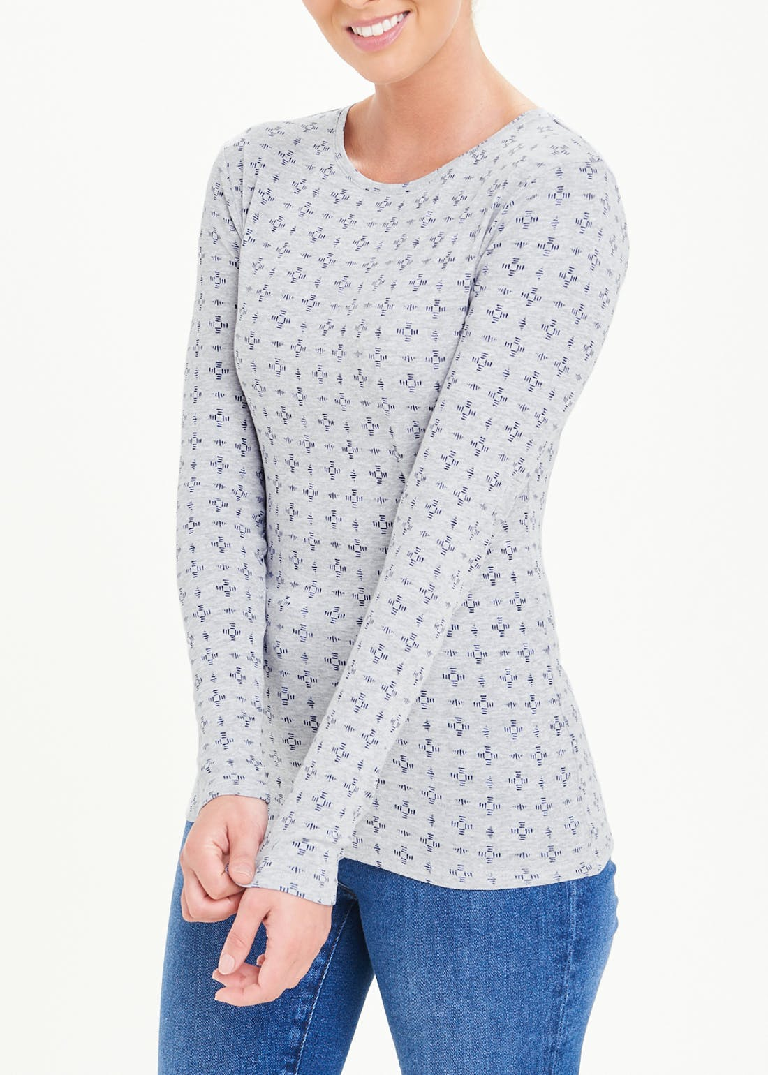 Perfect Long Sleeve Printed T-Shirt