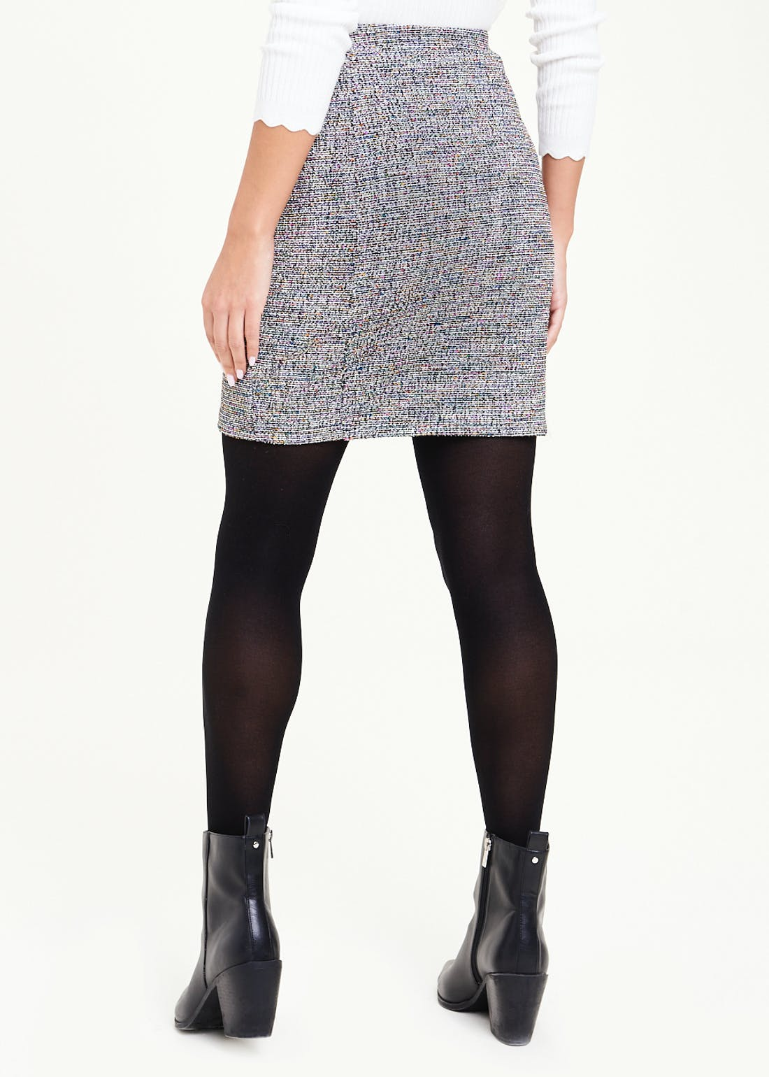 Textured Stretch Mini Skirt