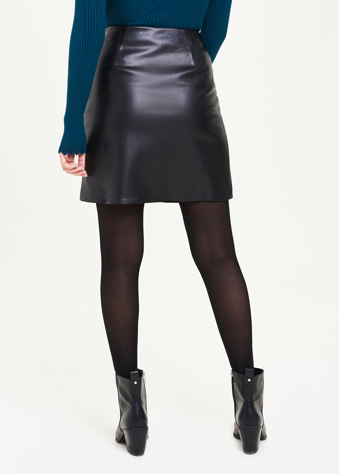 Leather Look PU Mini Skirt