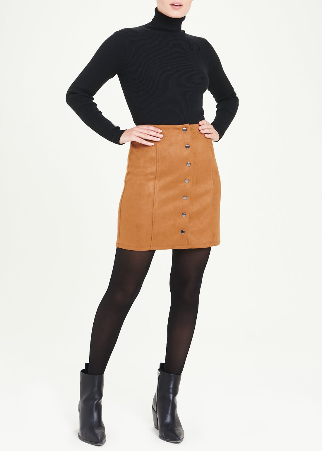Suedette A-Line Skirt