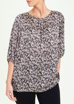 Soon Ditsy Batwing Blouse