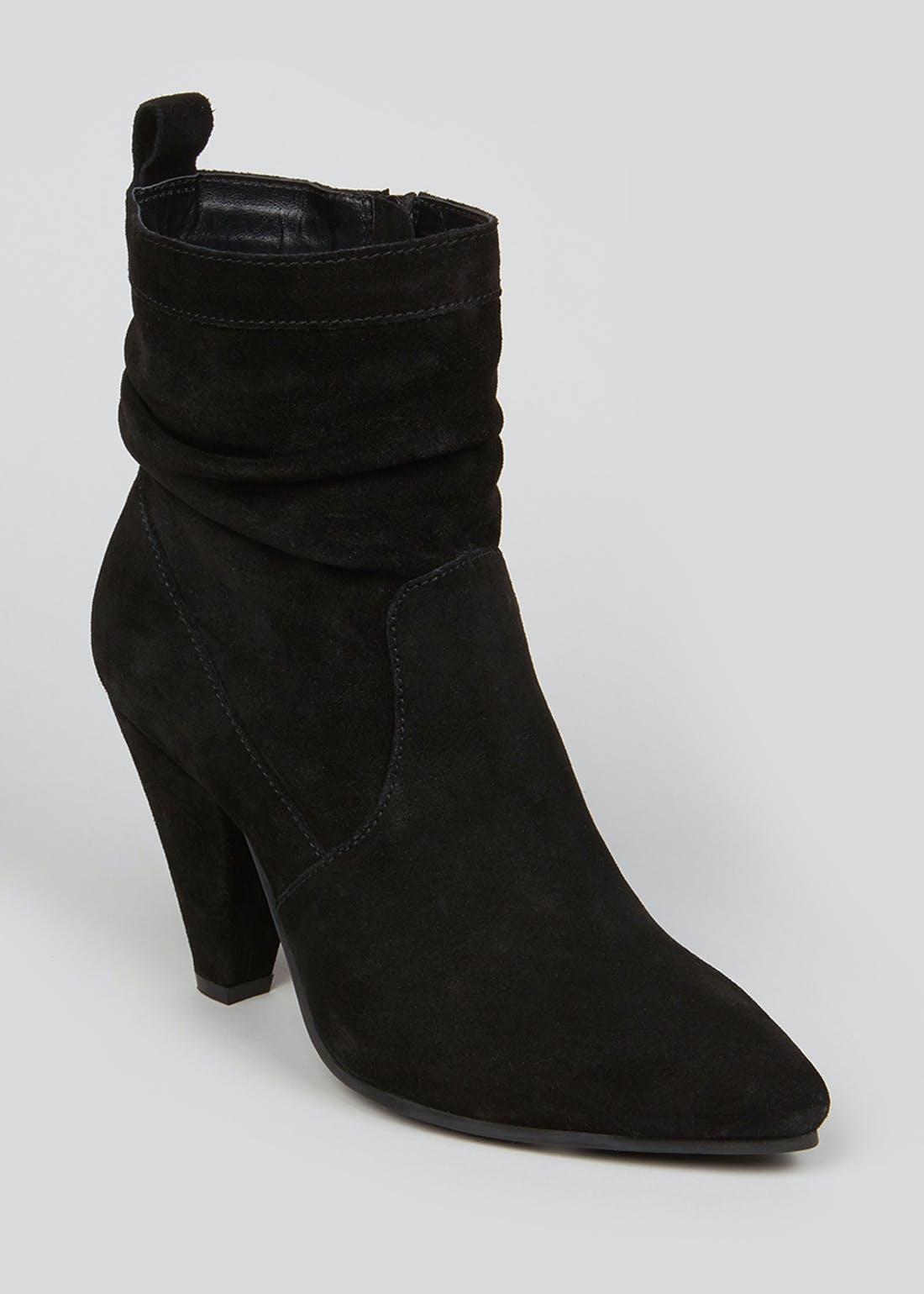 Soleflex Black Real Suede Slouch Boots