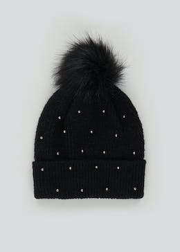 Beaded Bobble Hat