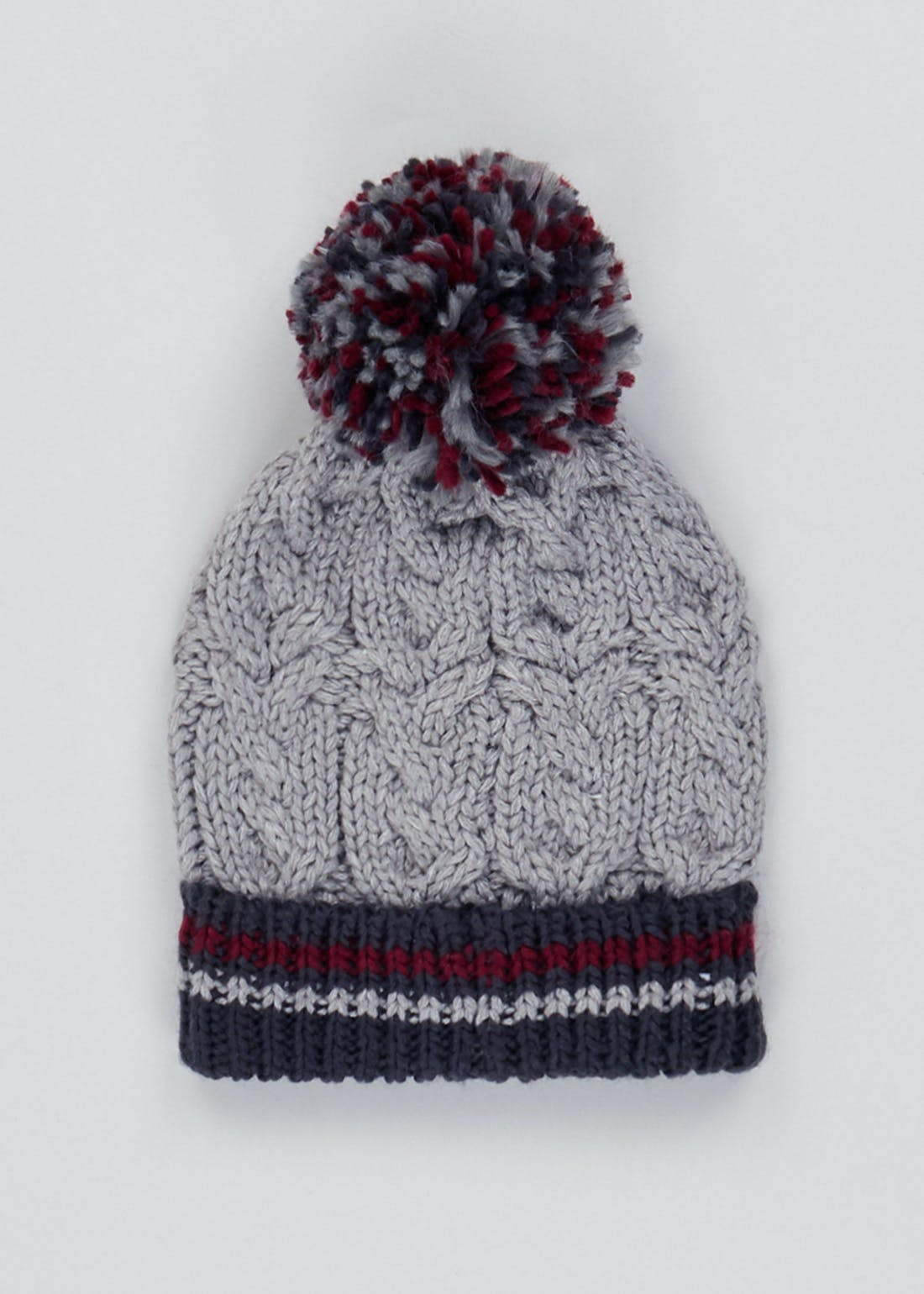 Kids Knitted Bobble Hat (7-13yrs)