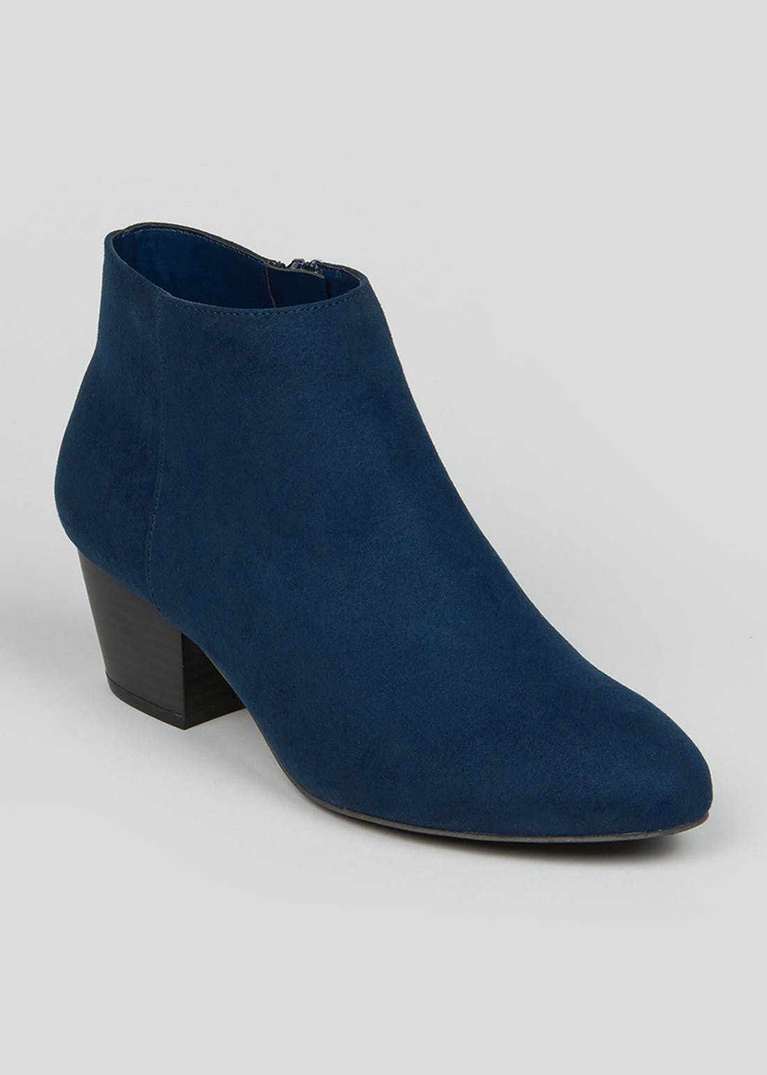Navy Suedette Ankle Boots