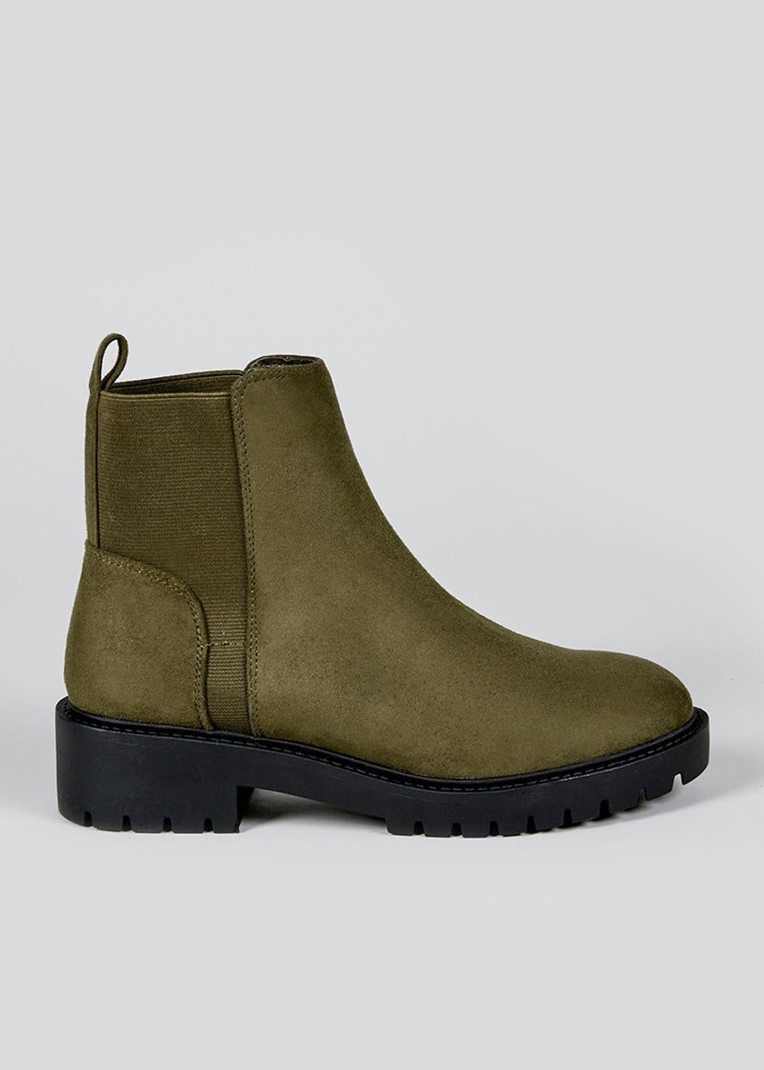 Wide Fit Khaki Ankle Boots
