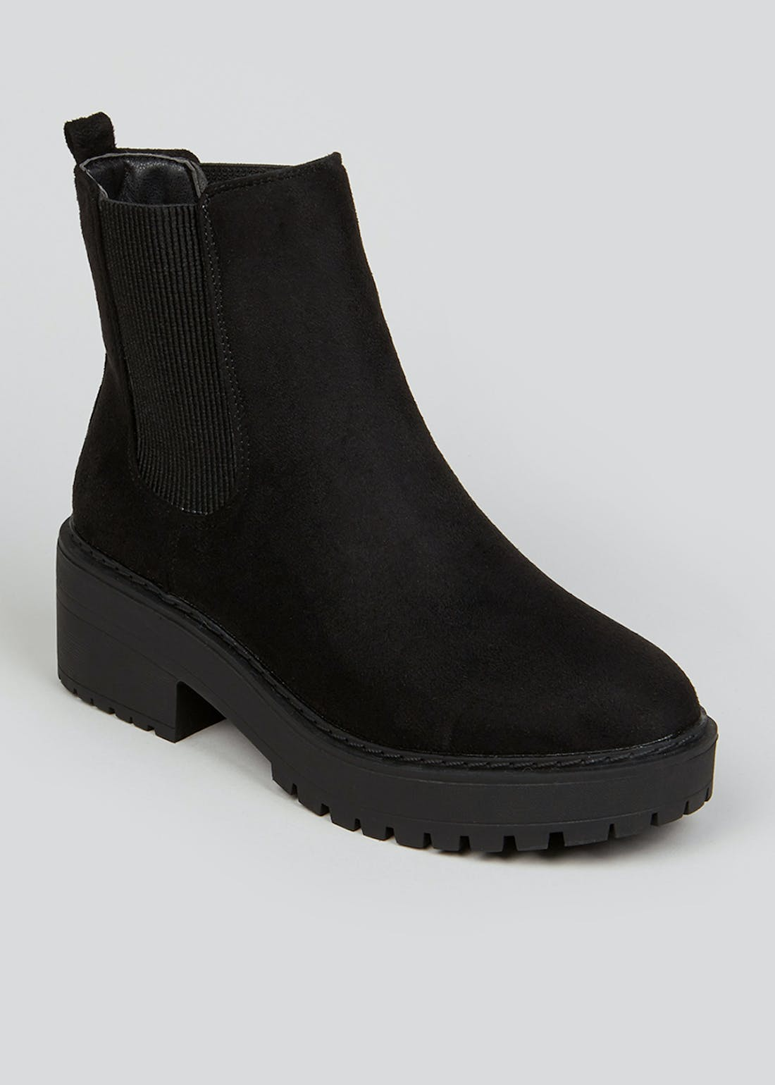 Black Chunky Chelsea Boots