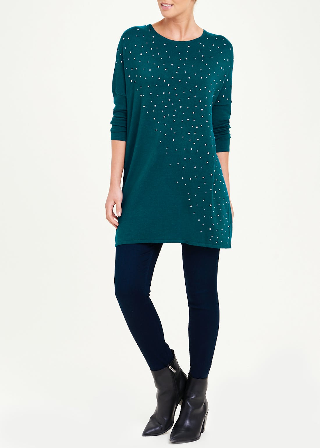 Soon Studded Tunic Top