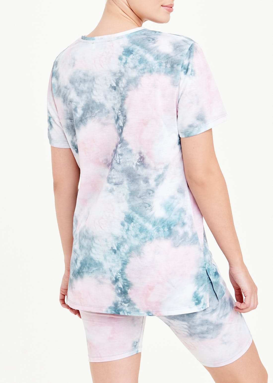 Tie Dye T-Shirt & Cycling Shorts Co-Ord Set