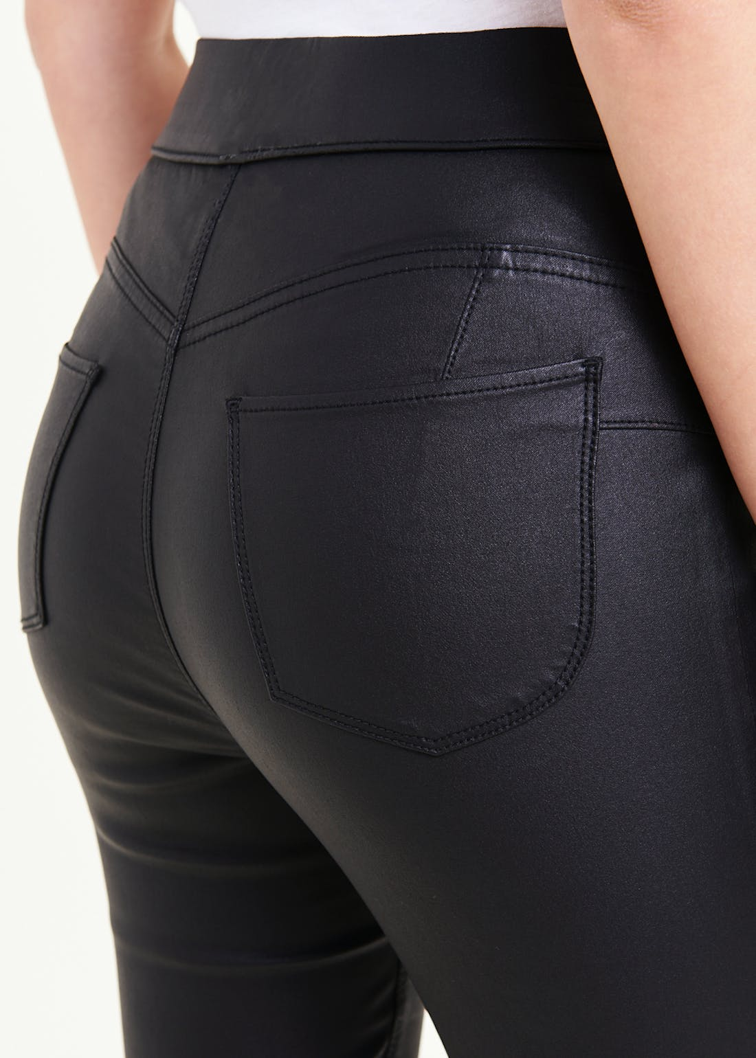 Rosie Pull On Coated Push Up Jeggings