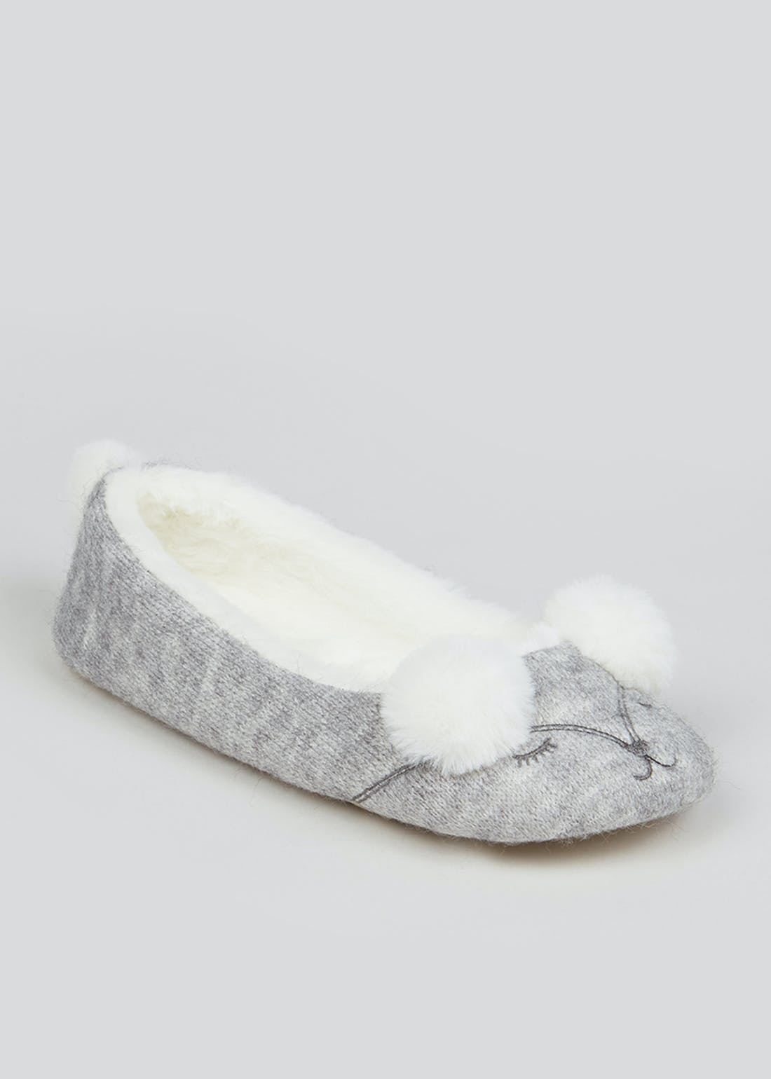 Grey Mouse Ballet Slippers