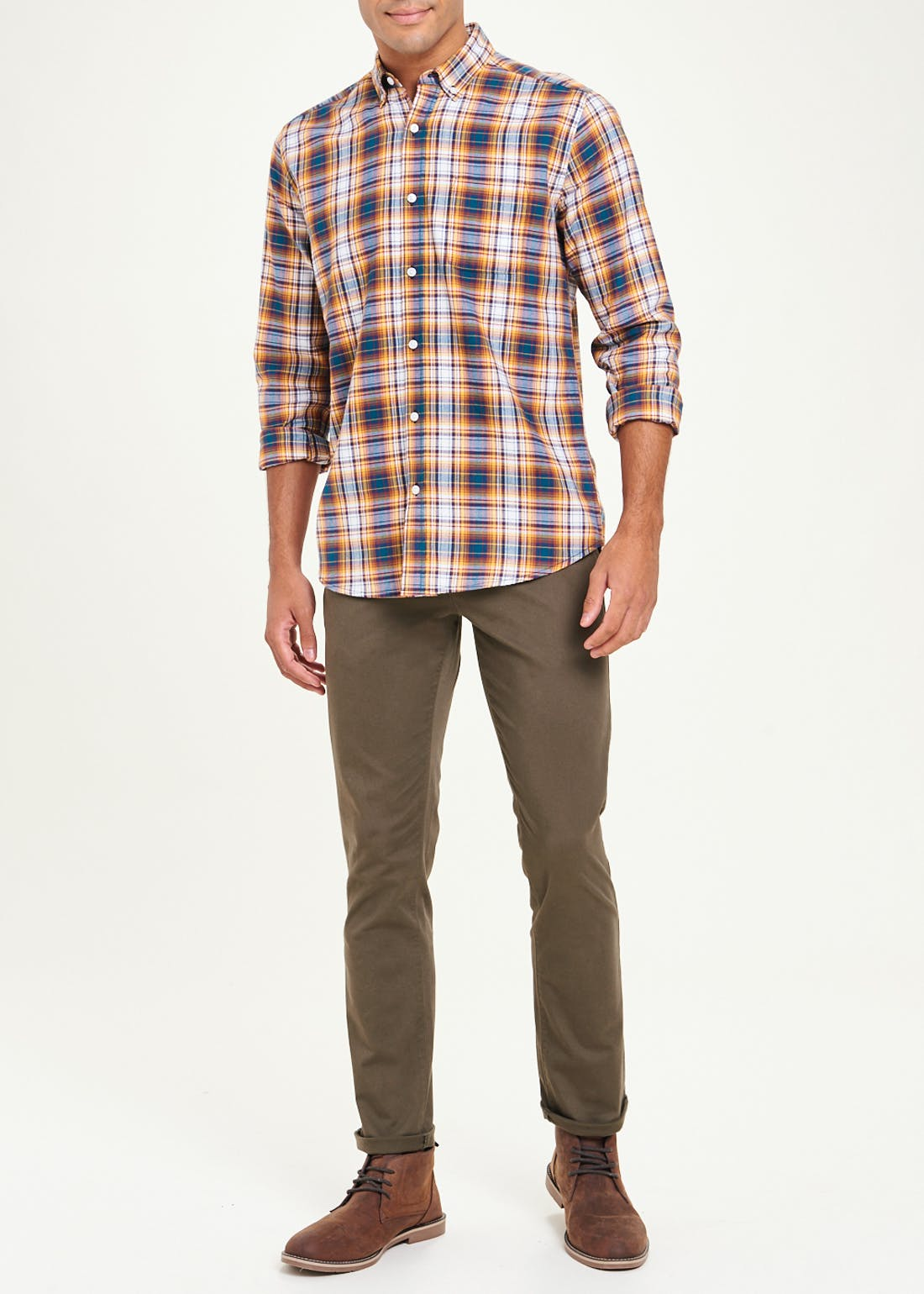 Long Sleeve Check Flannel Shirt