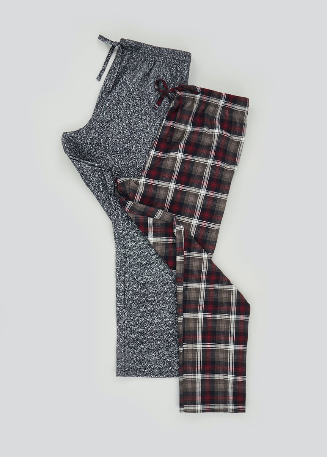 2 Pack Fleece Pyjama Bottoms