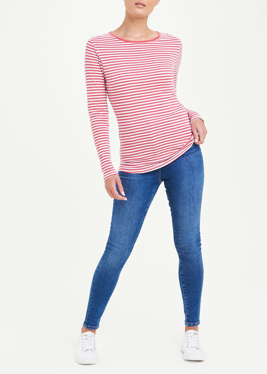 Perfect Long Sleeve Stripe T-Shirt