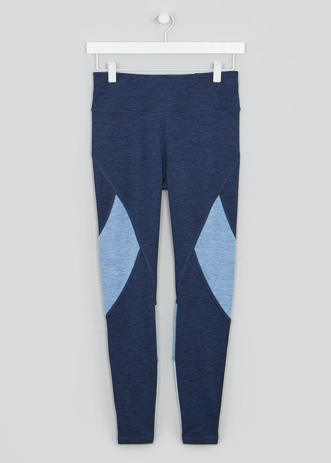 Souluxe Blue Marl Panel Gym Leggings