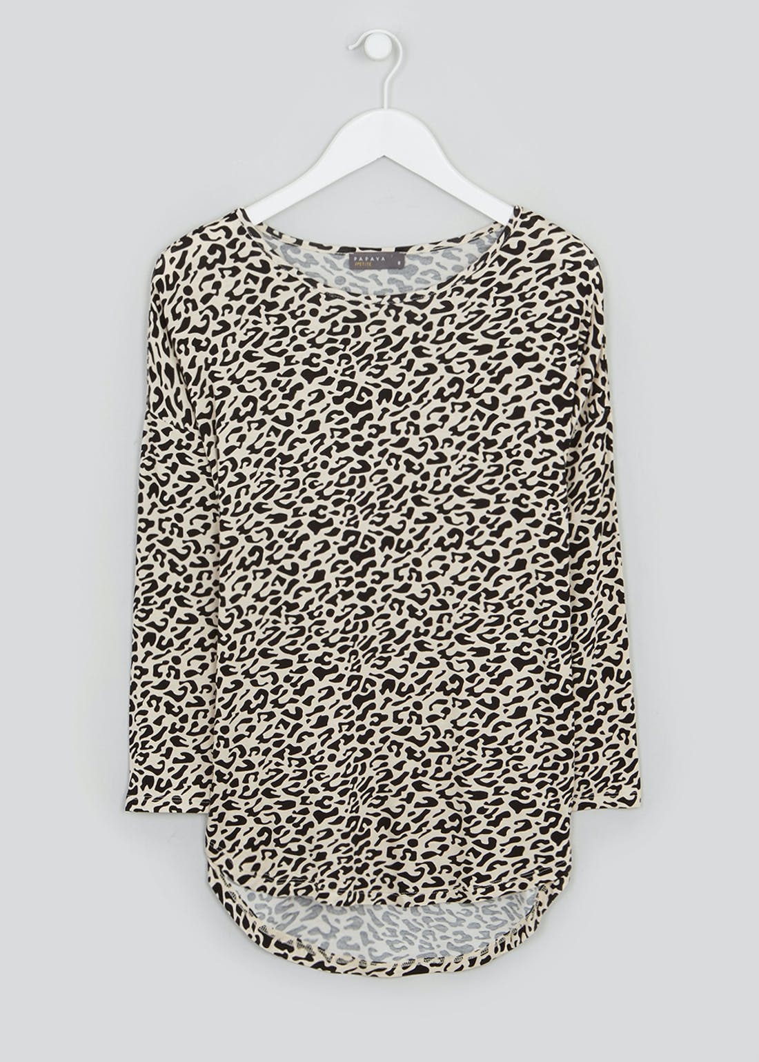 Papaya Petite Animal Print Longline Top