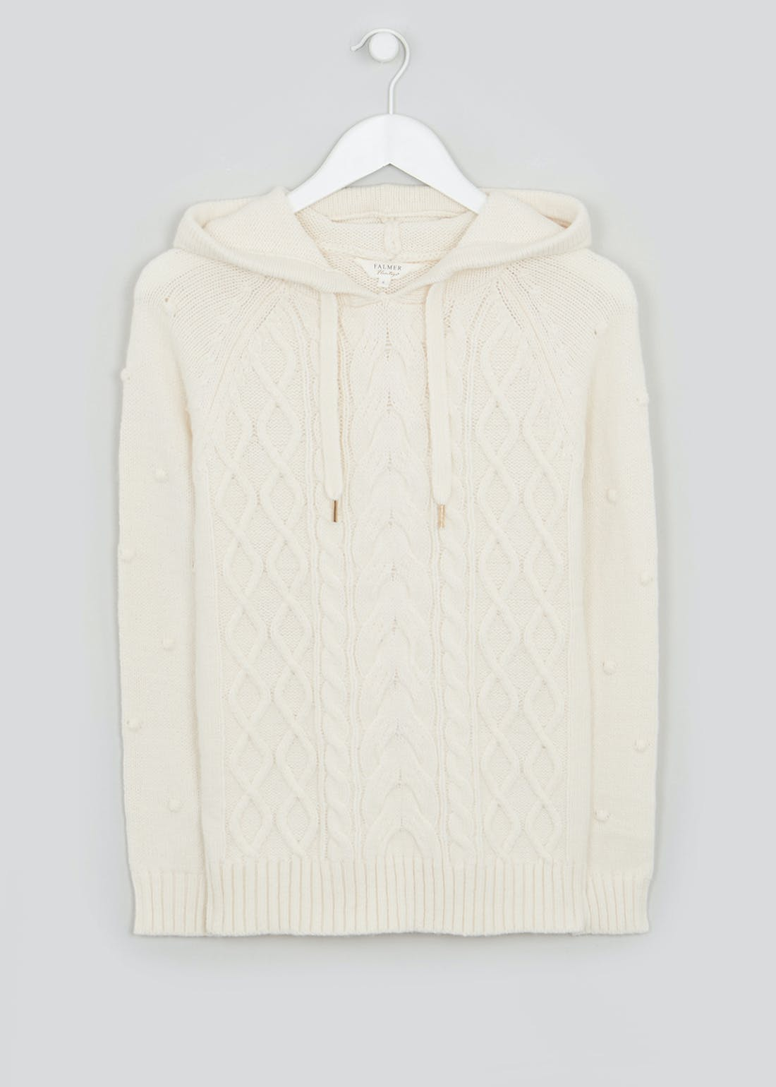 Falmer Knitted Bobble Hoodie