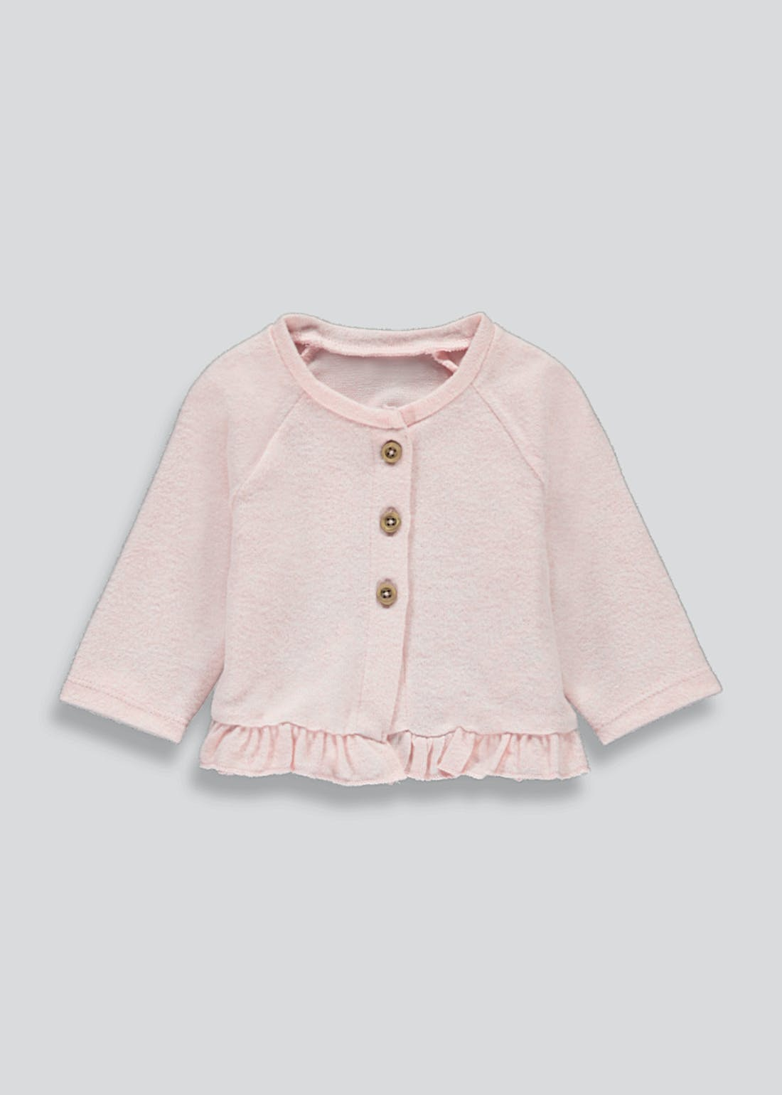 Girls Button Frill Cardigan (Tiny Baby-23mths)