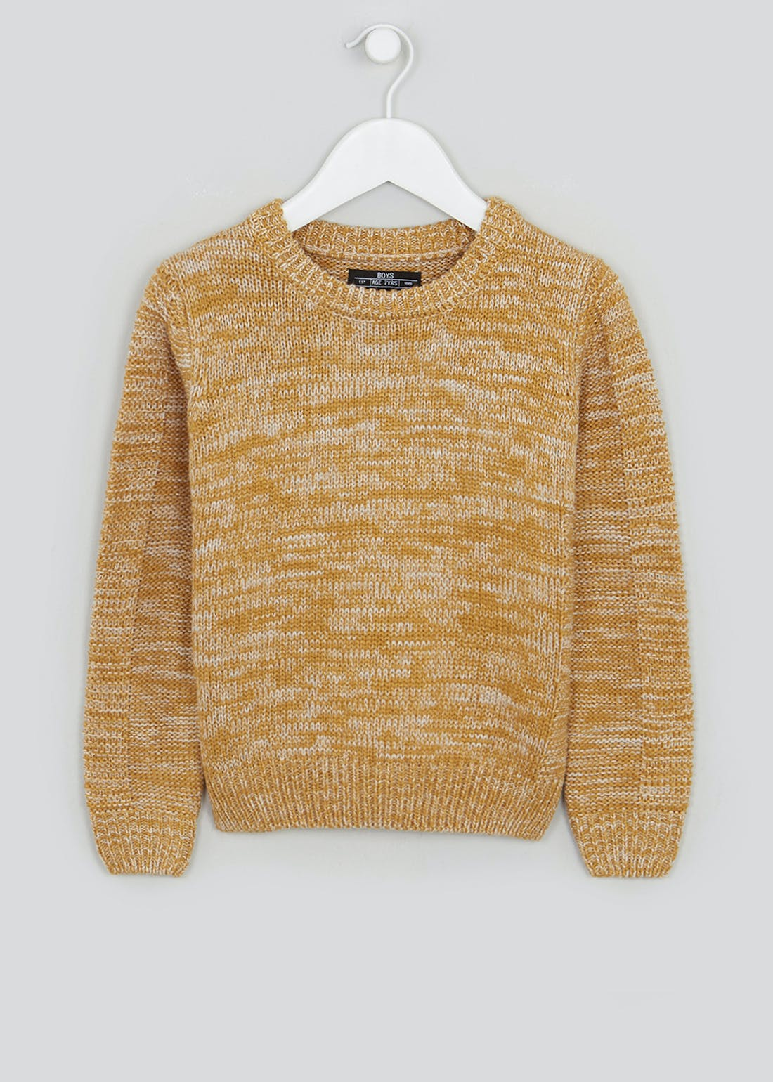 Boys Knitted Crew Neck Jumper (4-13yrs)