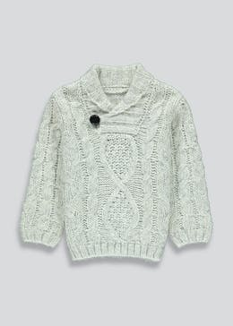 Boys Knitted Shawl Neck Jumper (9mths-6yrs)