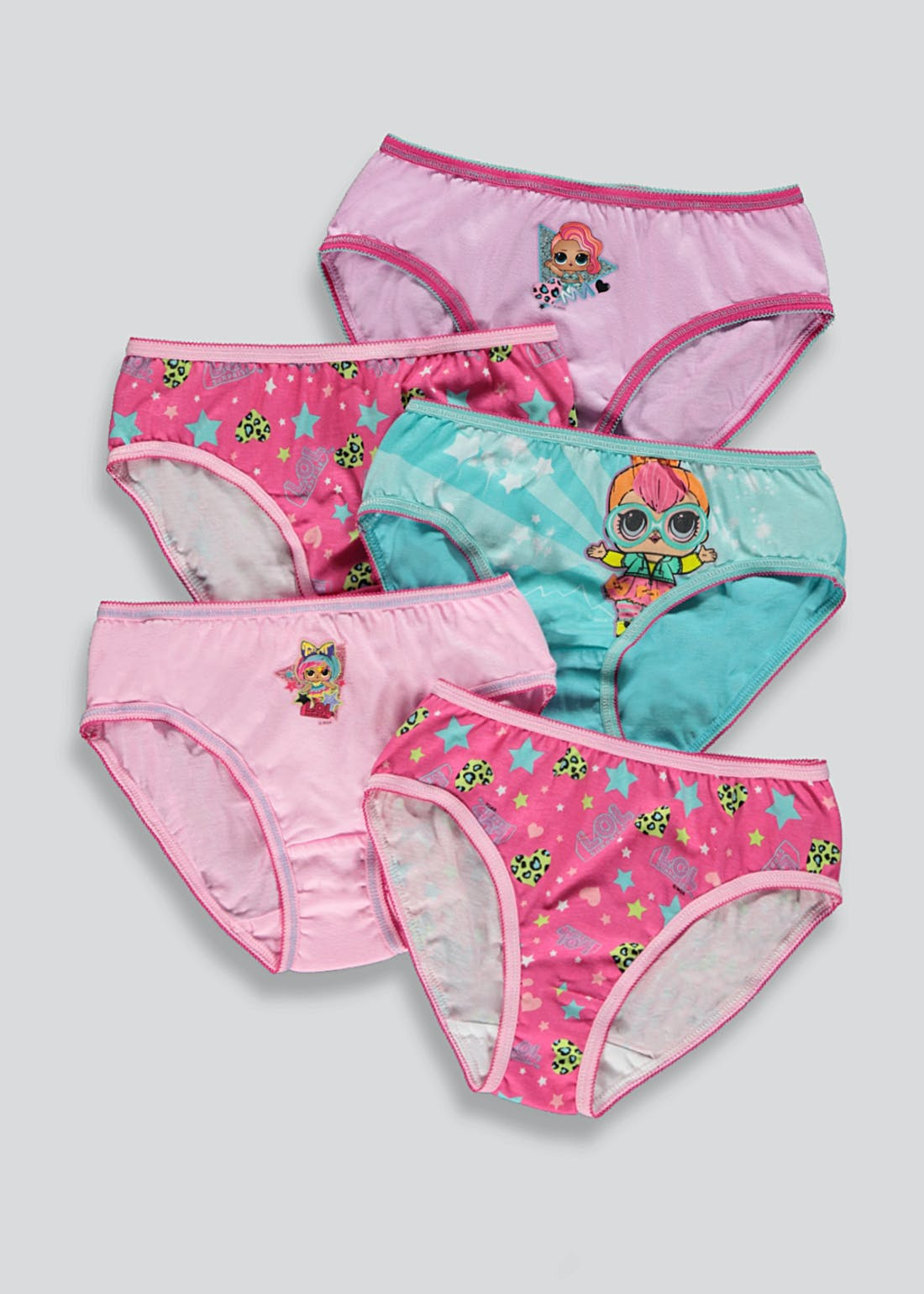 Girls 5 Pack L.O.L. Surprise Knickers (4-11yrs)