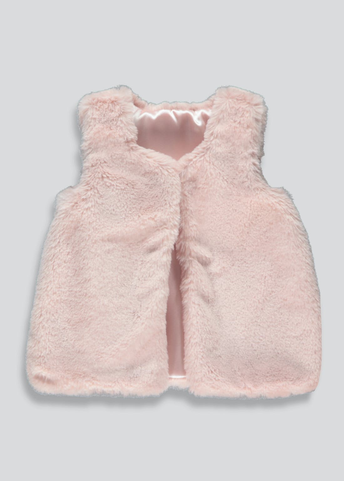Girls Pink Faux Fur Gilet (9mths-6yrs)