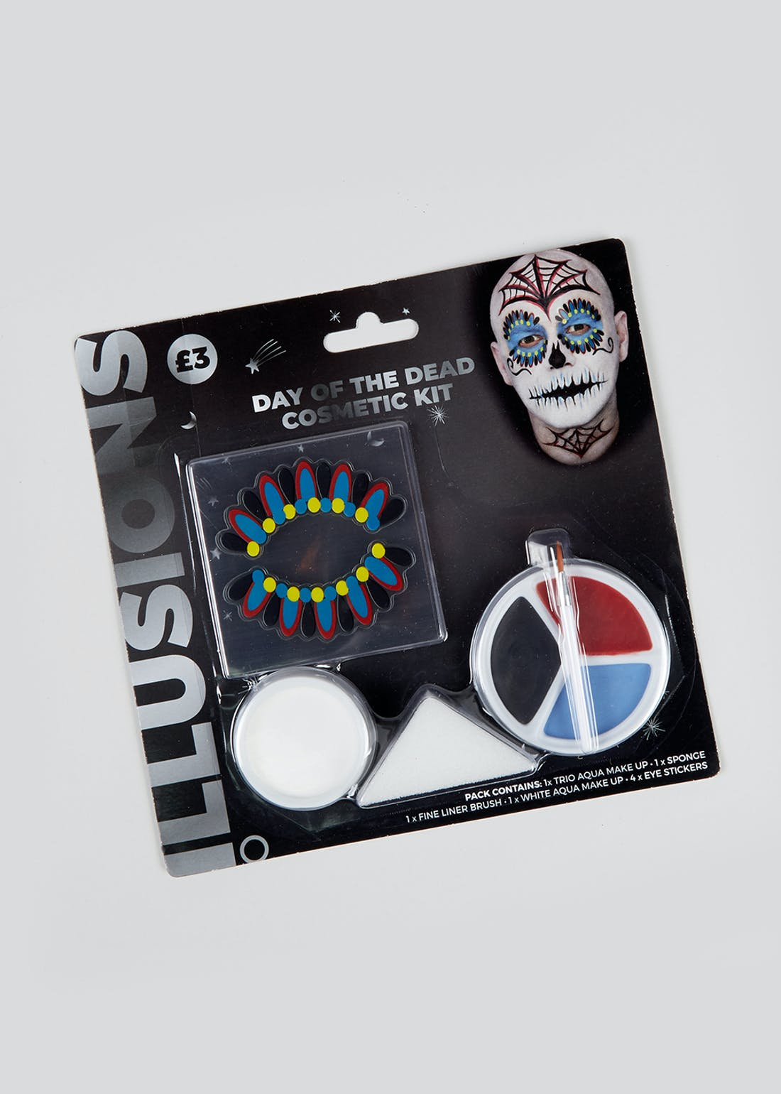 Halloween Day Of The Dead Face Paint Kit