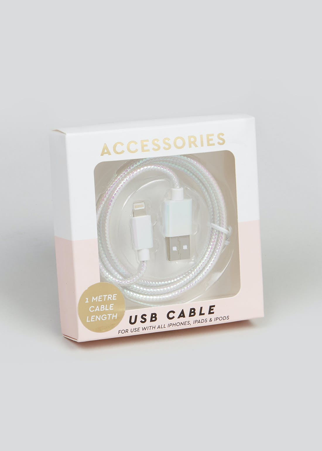 Holographic iPhone USB Cable (1m)