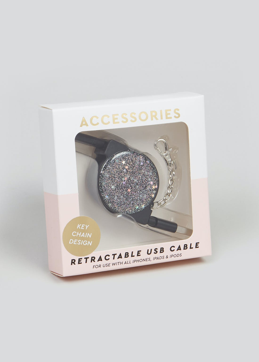 Starry Night Retractable iPhone USB Cable (1m)