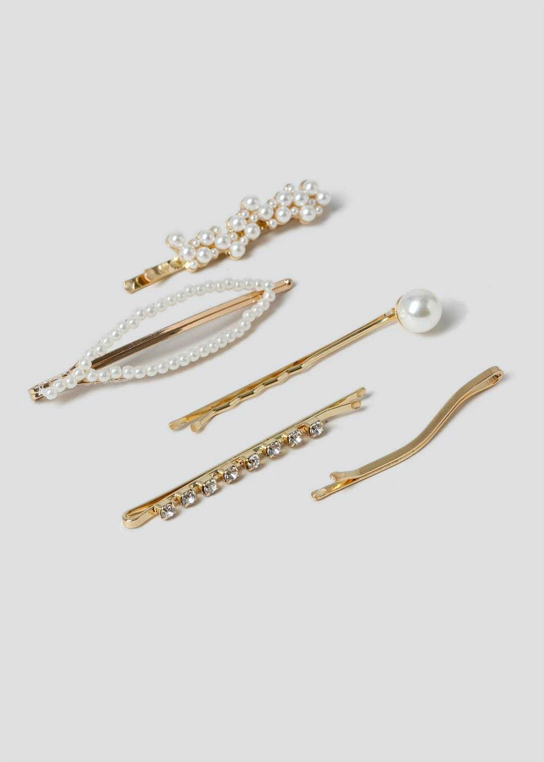 5 Pack Pearl Hair Slides