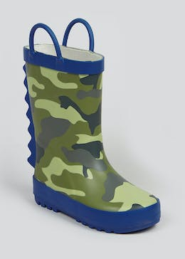Kids Camo Print Wellies (Younger 4-12)