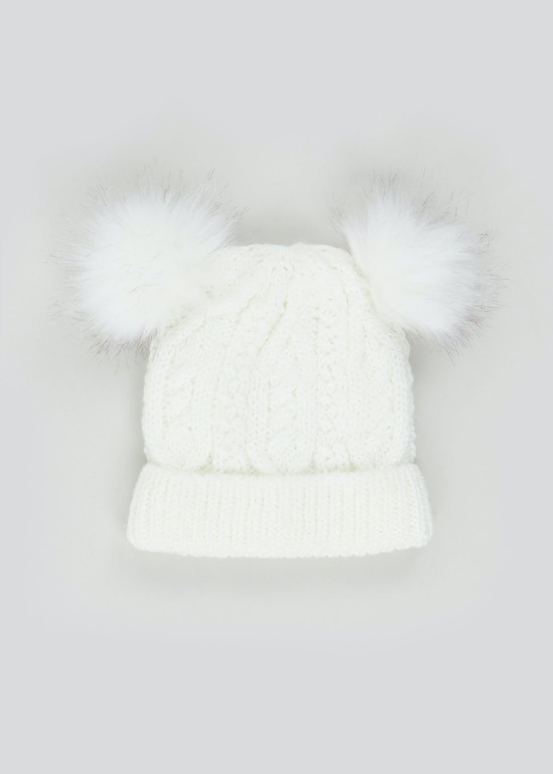 Girls Sparkle Bobble Hat (3-6yrs)