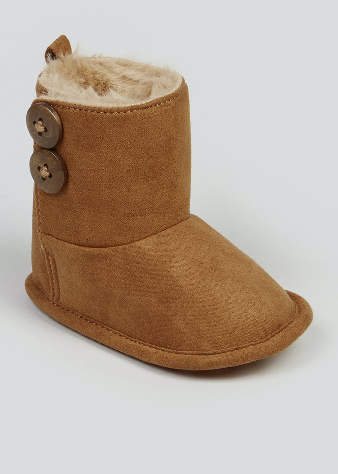 Unisex Tan Soft Sole Boots (Newborn-18mths)
