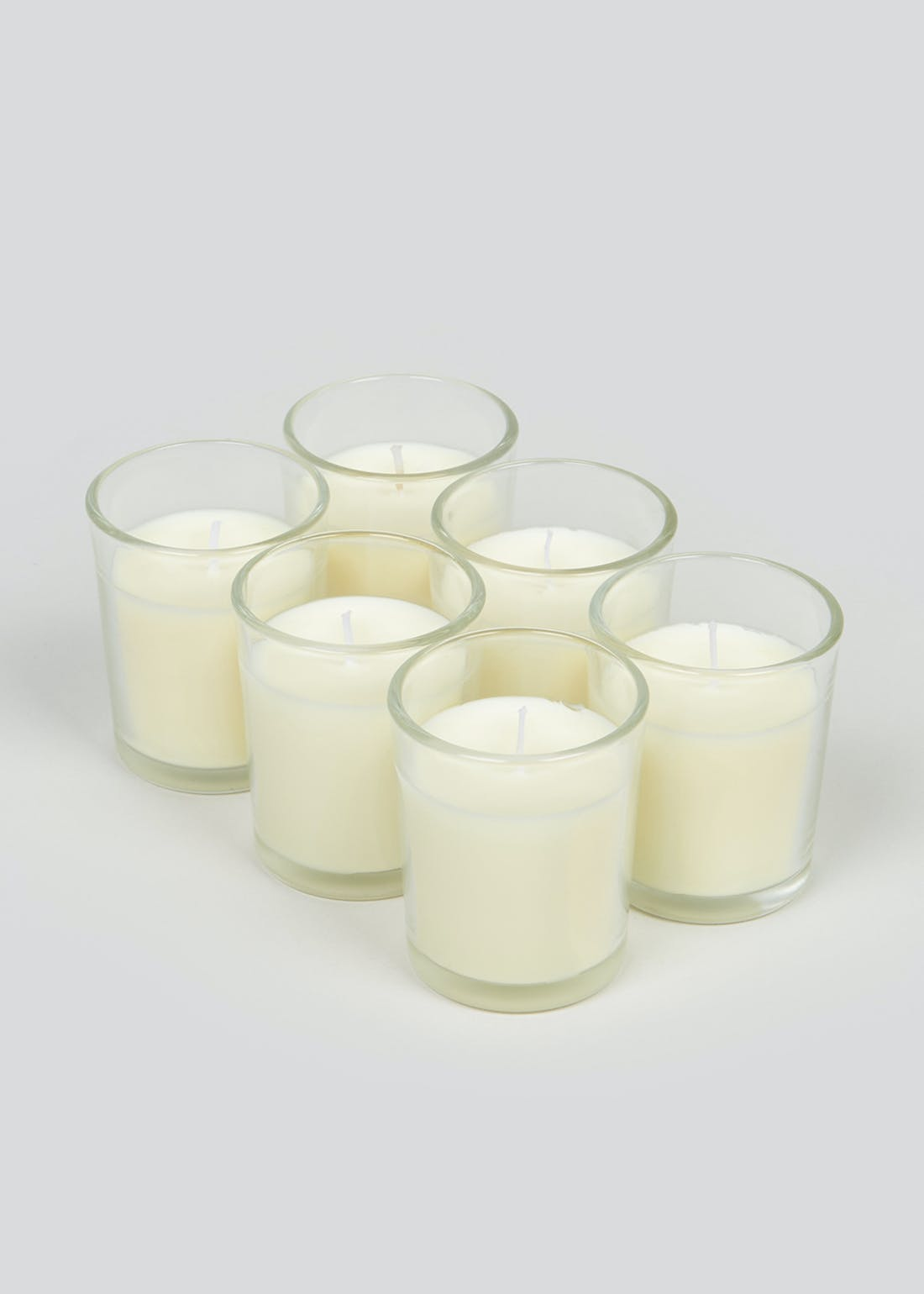 6 Pack Glass Votive Candles