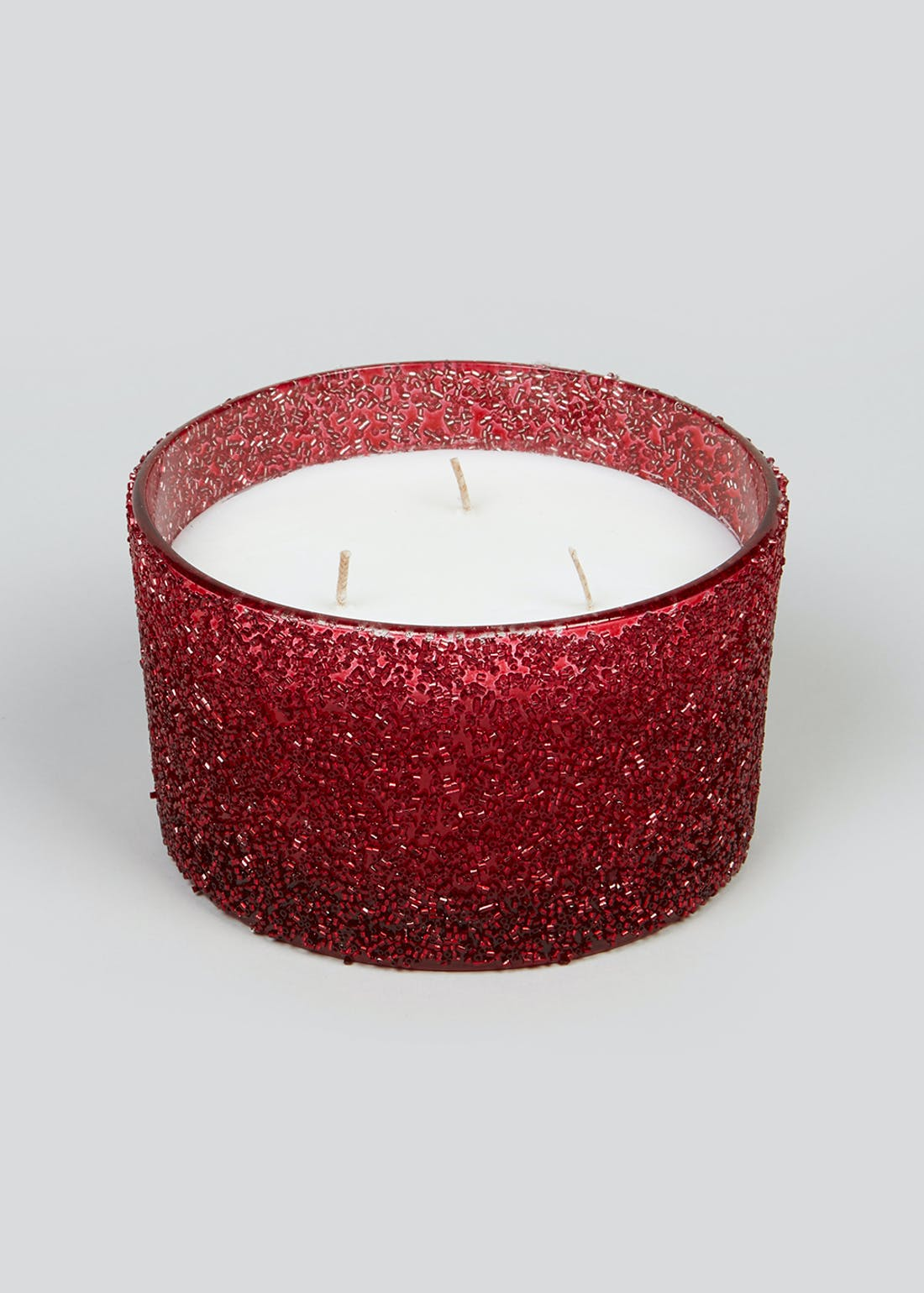 Christmas Spice Beaded 3 Wick Candle