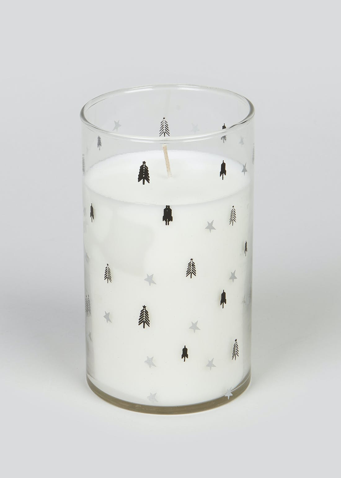 Arctic Forest Glass Candle