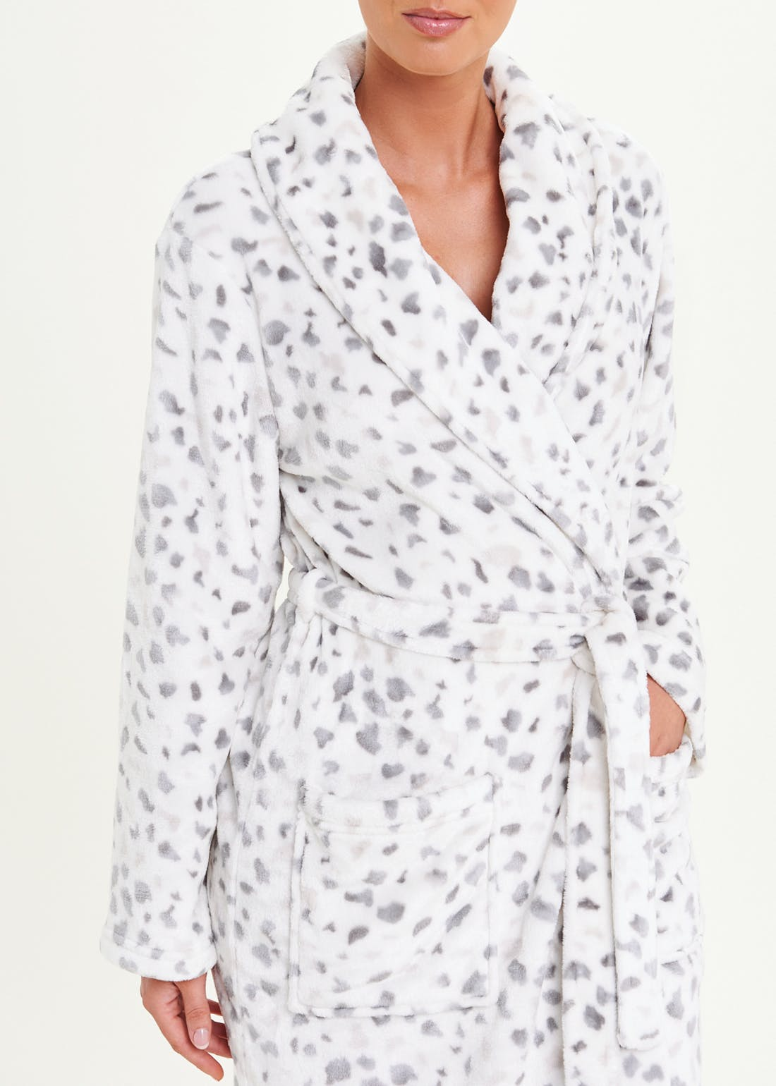 Smudge Animal Print Dressing Gown