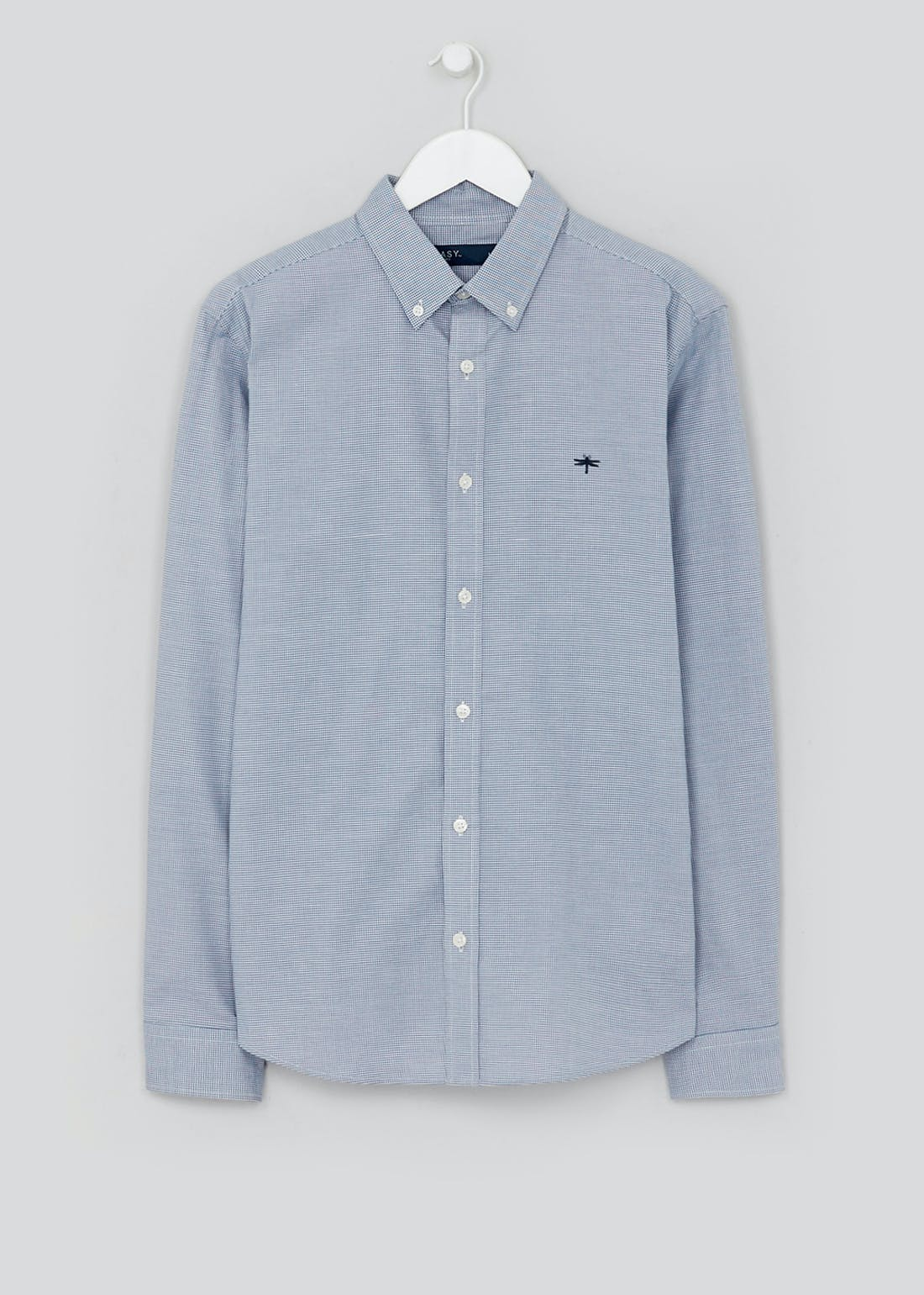 Slim Fit Stretch Check Oxford Shirt