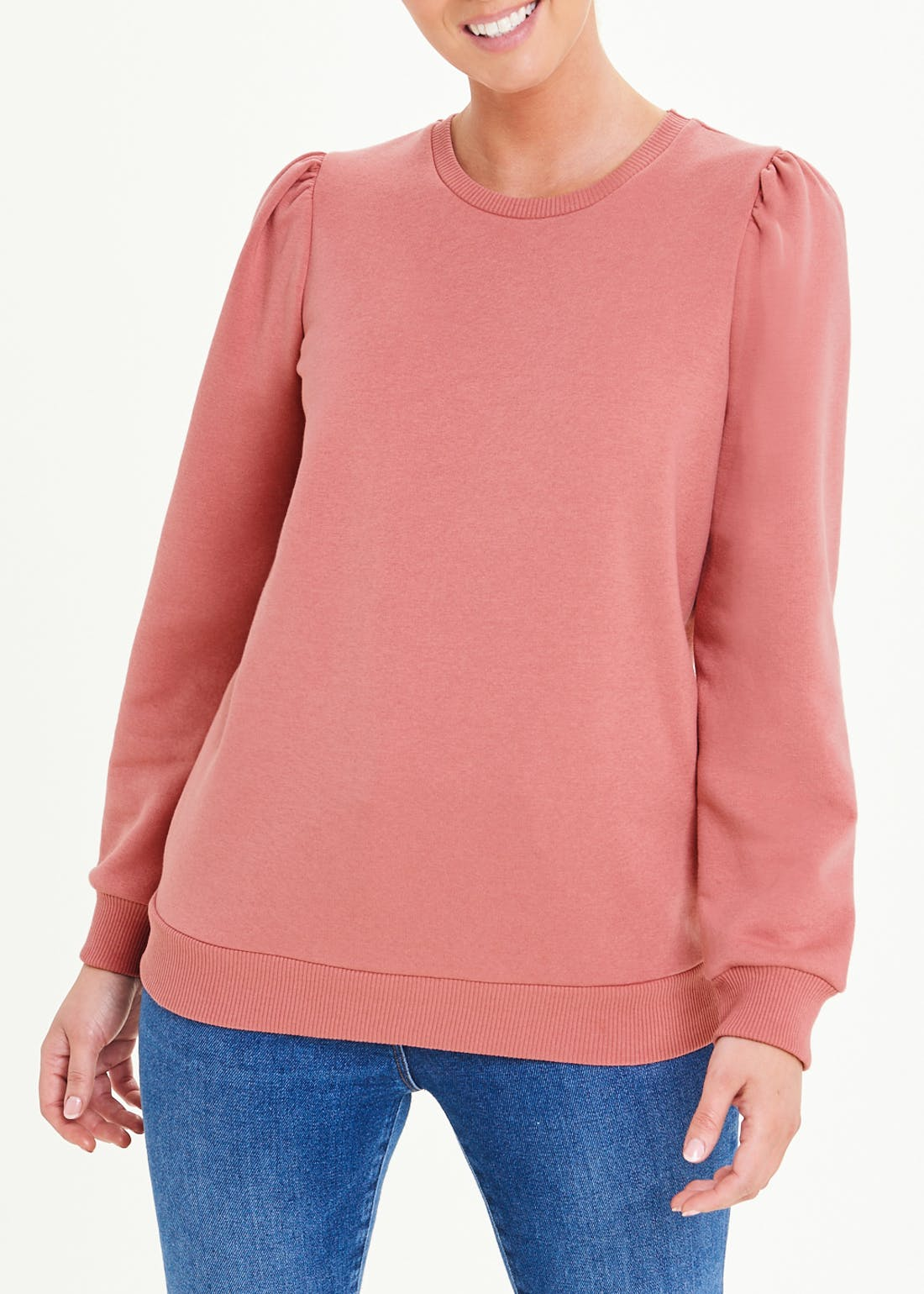 Puff Shoulder Sweatshirt
