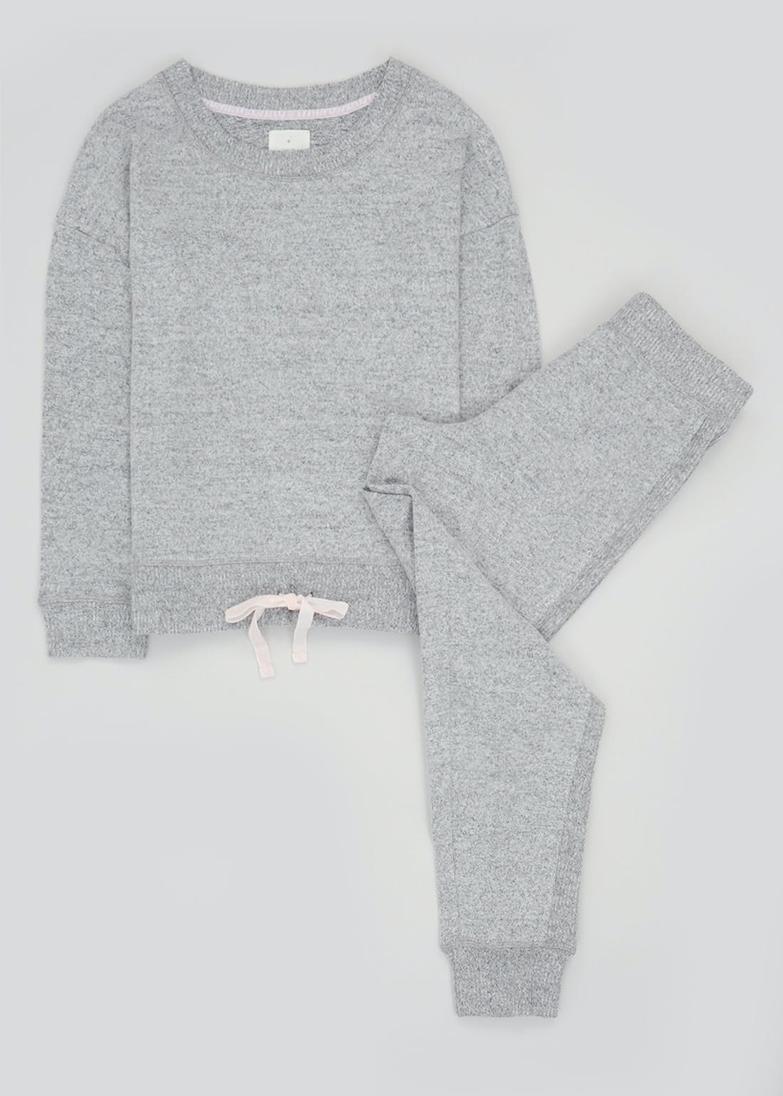 Drawstring Marl Lounge Set