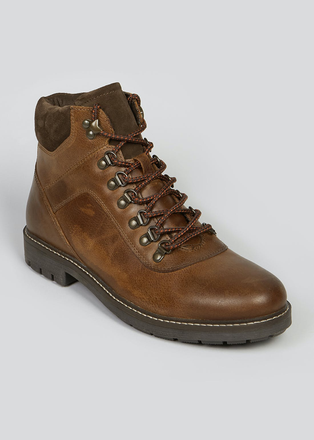 Brown Leather Hiker Boots