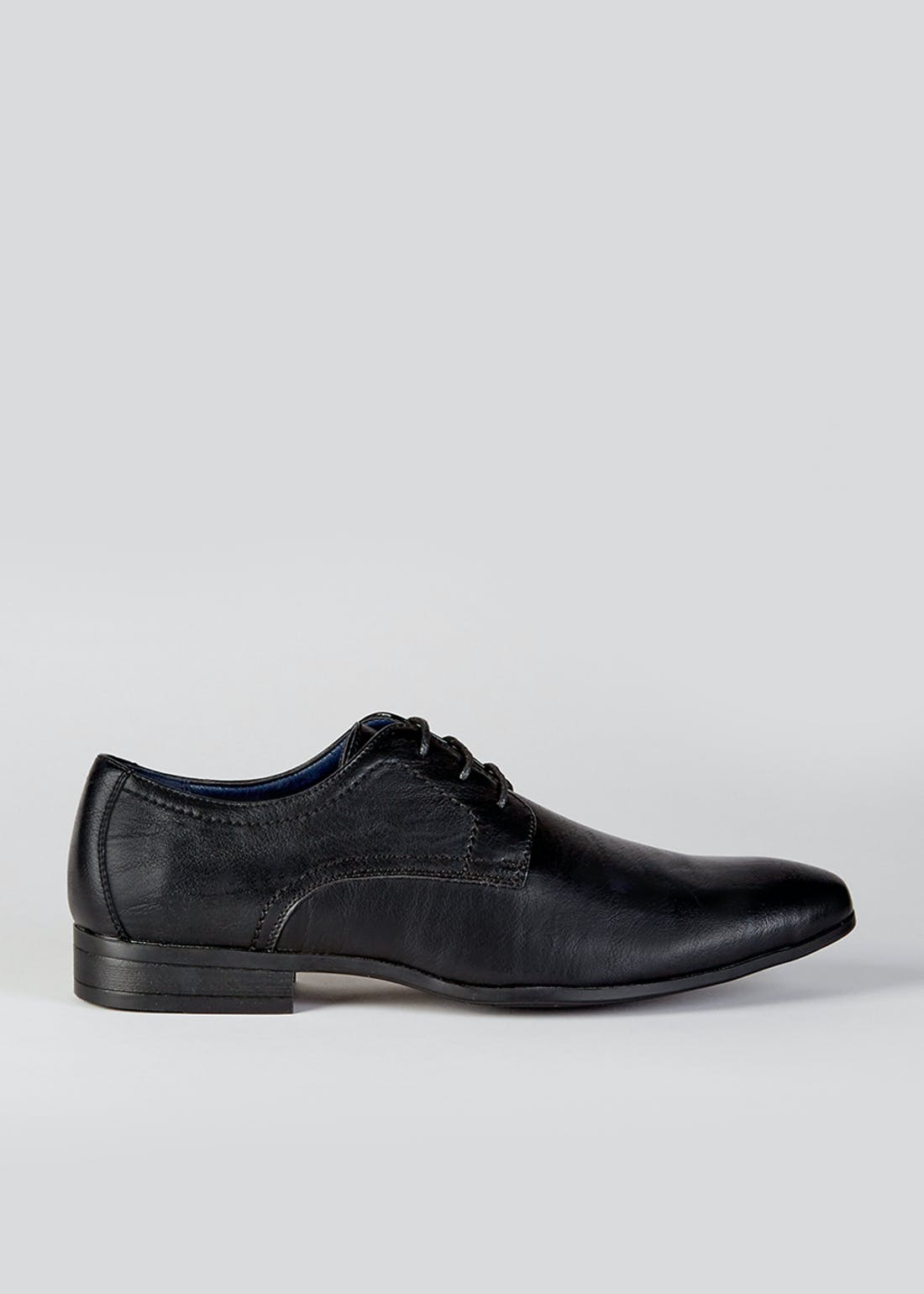 Black Derby Lace Up Shoes