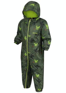 Kids Regatta Green Dragon Puddle Suit (12mths-5yrs)