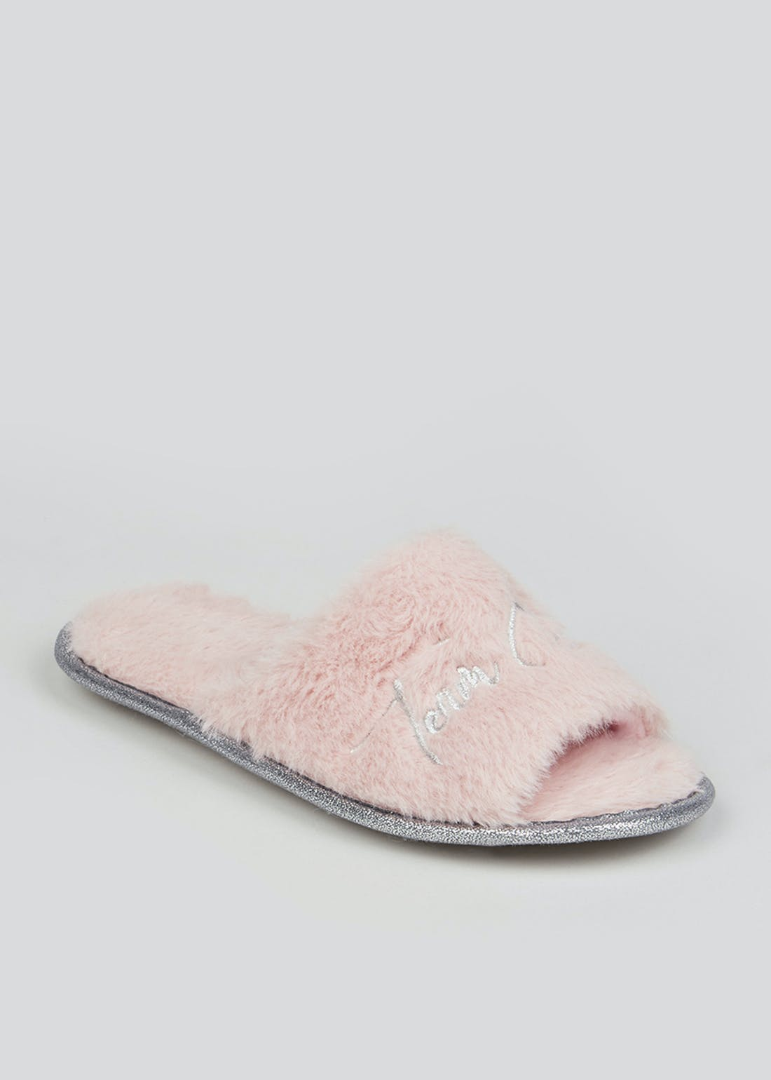 Pink Fluffy Bridesmaid Slippers