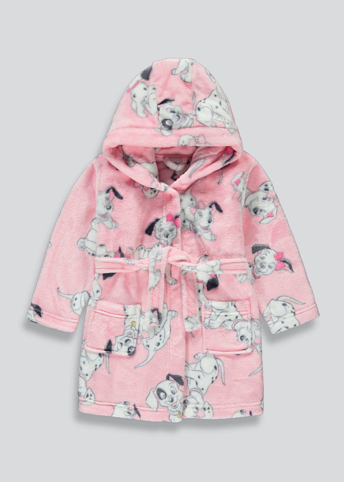 Kids Disney 101 Dalmatians Dressing Gown (6mths-6yrs)