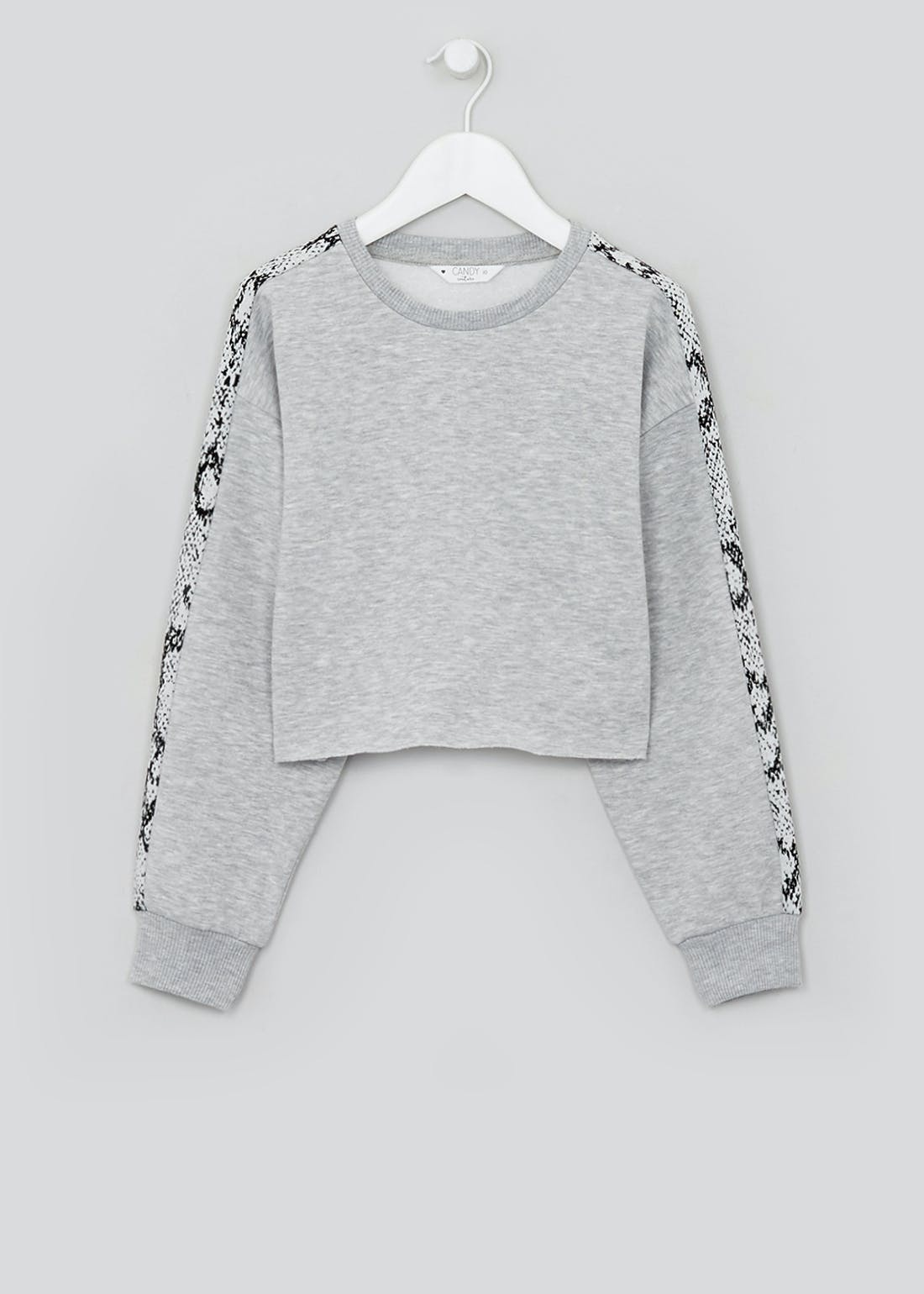 Girls Candy Couture Cropped Sweatshirt (9-16yrs)