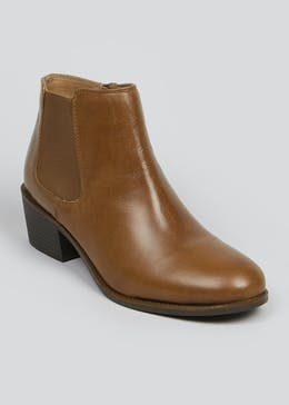 Soleflex Brown Real Leather Chelsea Boots
